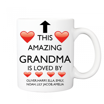 Personalised Grandma Gift Mug – This Amazing Grandma is Love by